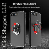 Ring Holder Case for iPhone 8 plus, ROCK TPU Kickstand Cover Case for iPhone 8
