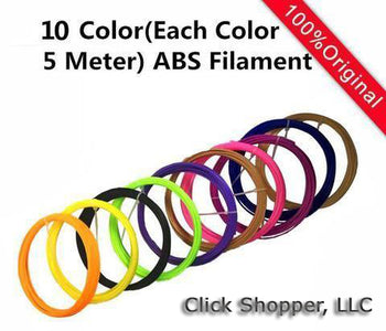 Magic 3d printer pen With 3Color ABS filaments