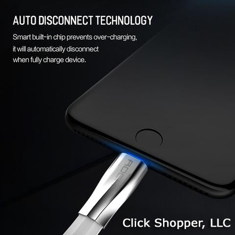Fast Charging Auto Disconnect USB Cable for iPhone 8 7 6 plus