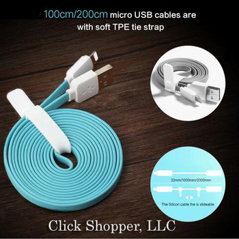Light USB Cable for iPhone 7 6 6s SE 5s Flat USB Cable