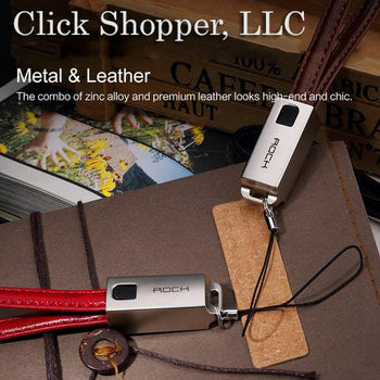 ROCK Keychain Foldable USB Cable for iPhone 5/6/6s/7/IOS device Leather USB Cable Keychain