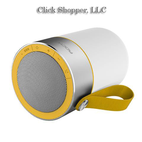 ROCK Portable Subwoofer Metal Waterproof Wireless Bluetooth Speaker Light Car Handsfree Call Music Suction Phone Mic For iPhone