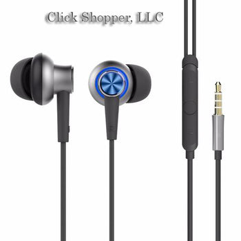 ROCK Y5 In Ear Stereo Earphone in line control with mic Luxury Headset 3.5mm Earbuds For iPhone Samsung With Microphone