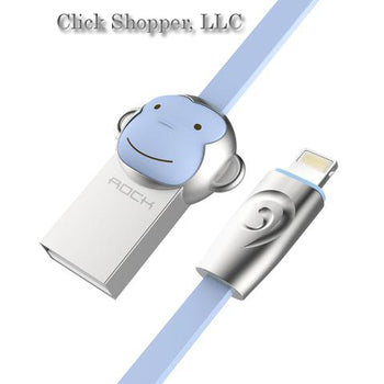 ROCK Zinc Alloy Monkey USB cable for iPhone 7 6 6s 5s for iPad 2 3 4 Usb cable for IOS phone cable for iPad air pro mini