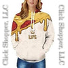 Funny Food Is Life Prints Hooded Sweatshirts