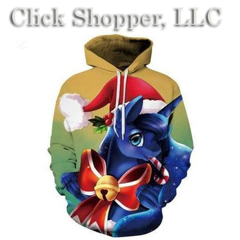 Christmas Unisex Thickness 3D Hoodies