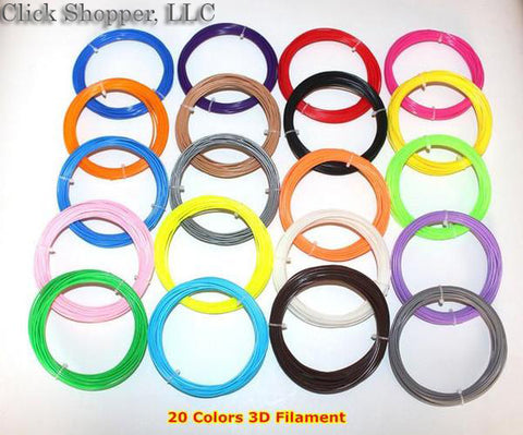 10/20 Colors PLA Filament For 3D Pen