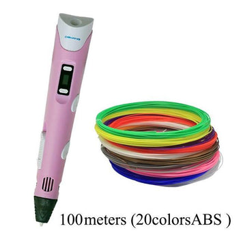 3D Drawing Pen With 100M 20 Color FREE ABS Filament