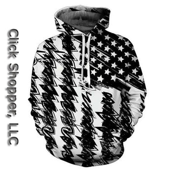 New Fashion 3d Print Hooded Sweatshirt