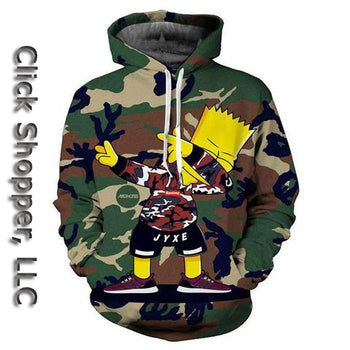 New Fashion 3d Cartoon Hooded Sweatshirts