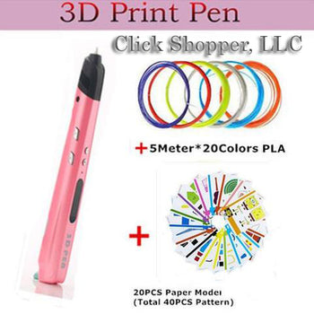 2017 Latest Design 2 Colors 3D Pen With Led Screen