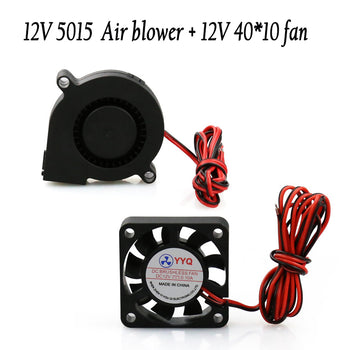 Anet A8 A6 DC12 Cooling Extruders 5015 Air Blower Plus 40 by 10 Fan