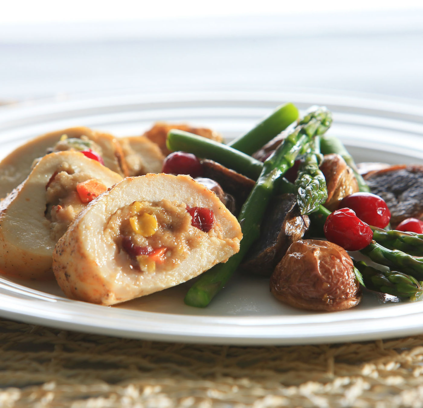 Cranberry & Vegetable Stuffed Chicken