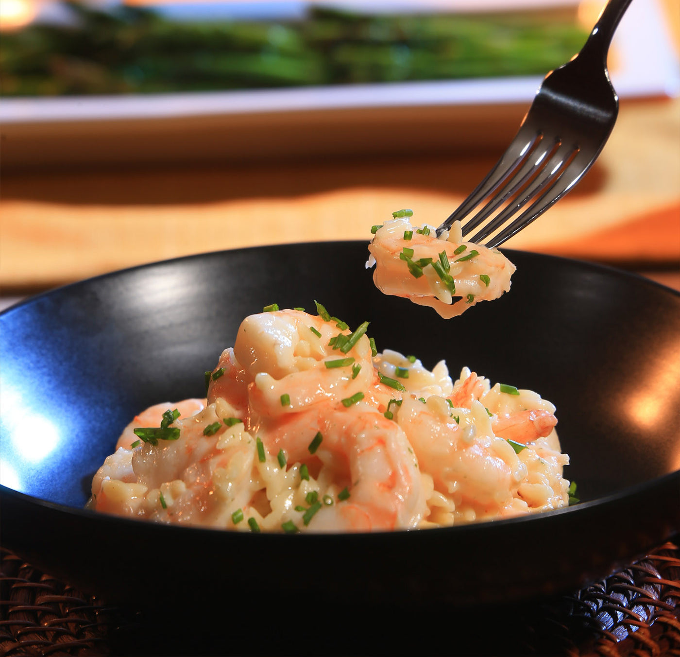 Shrimp Alfredo with Orzo