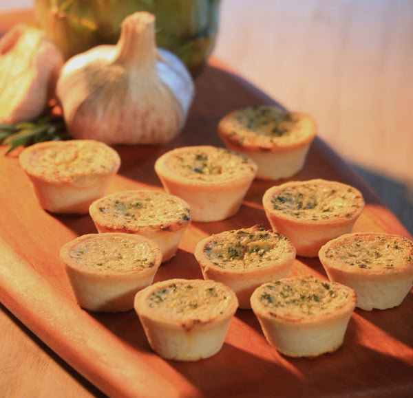 Artichoke & Goat Cheese Mini Quiches