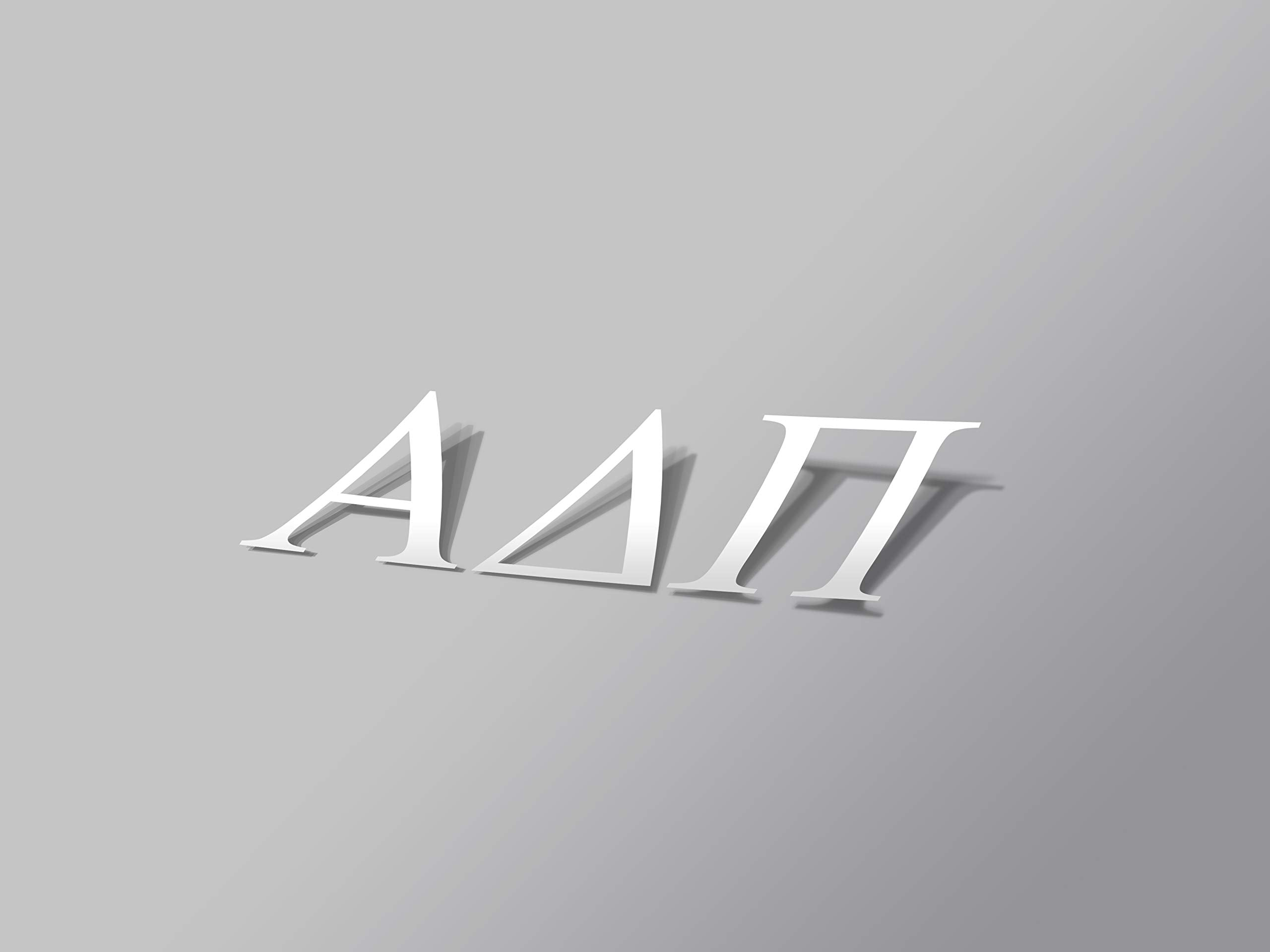 "Alpha Delta Pi Sticker Greek Sorority Decal for Car, Laptop, Windows, Officially Licensed Product, Monogram Design 2.5"" Tall - White - White"