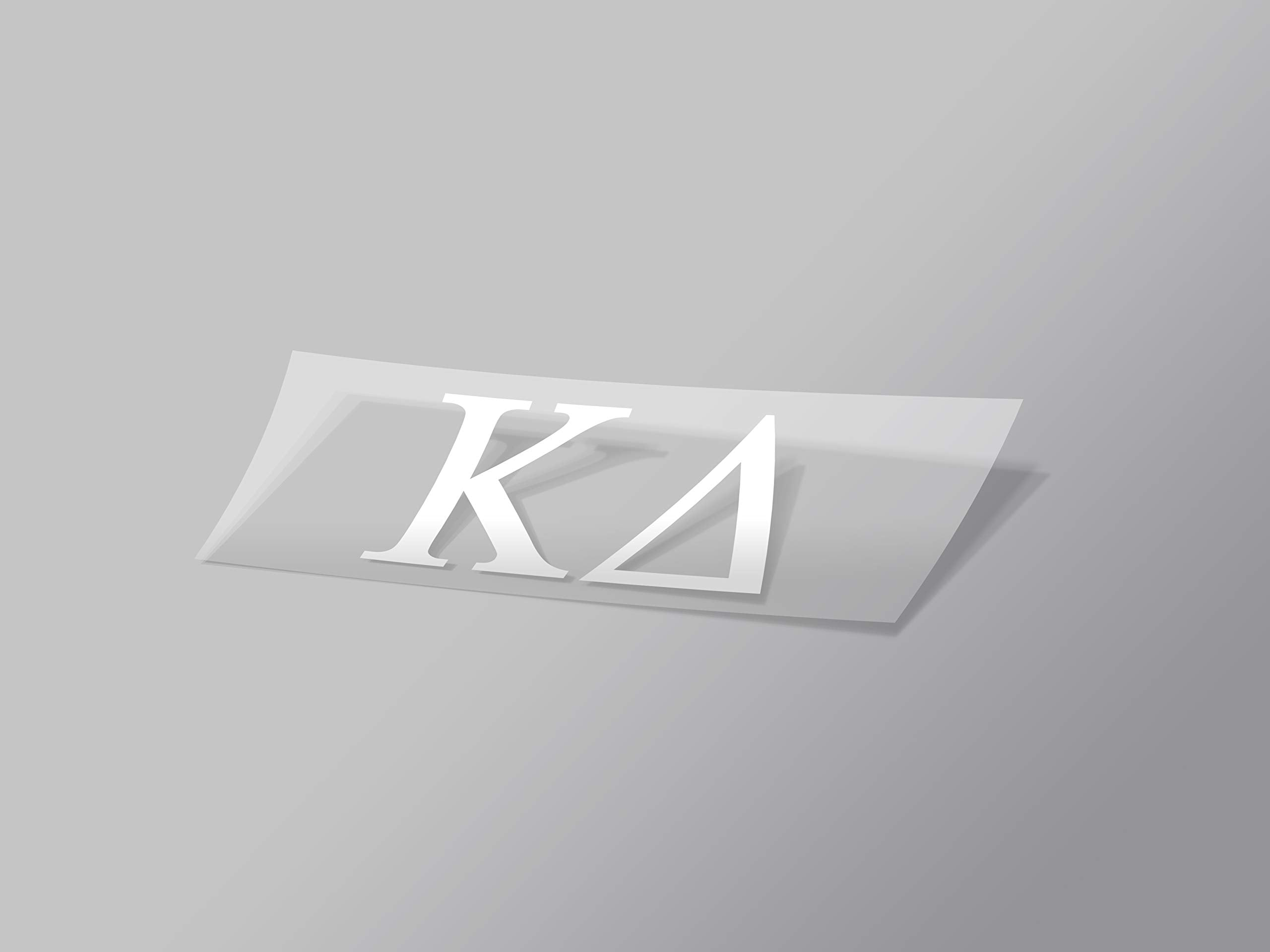 "Kappa Delta Sticker Greek Sorority Decal for Car, Laptop, Windows, Officially Licensed Product, Monogram Design 2.5"" Tall - White"
