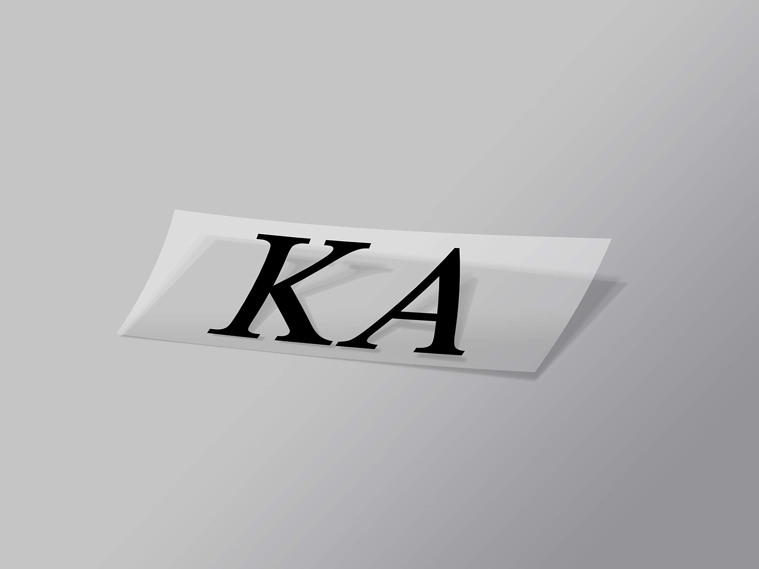 "Kappa Alpha Sticker Greek Sorority Decal for Car, Laptop, Windows, Officially Licensed Product, Monogram Design 2.5"" Tall - Black"