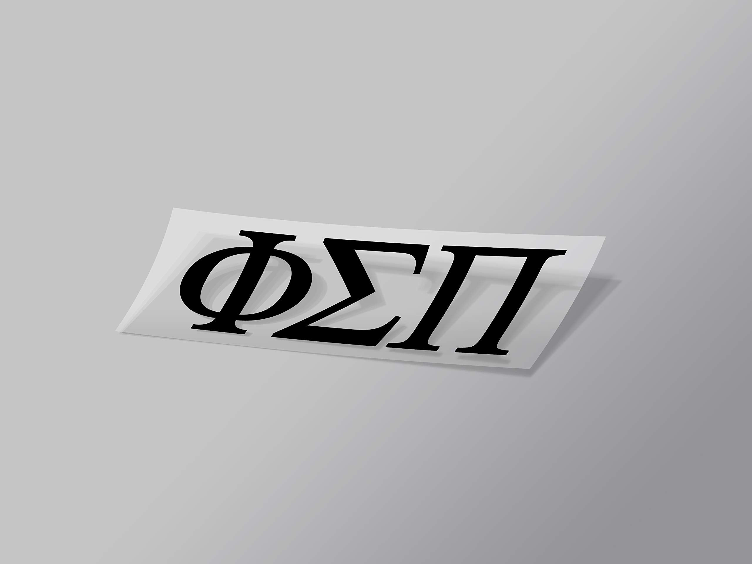 "Phi Sigma Sigma Sticker Greek Sorority Decal for Car, Laptop, Windows, Officially Licensed Product, Monogram Design 2.5"" Tall - Black"