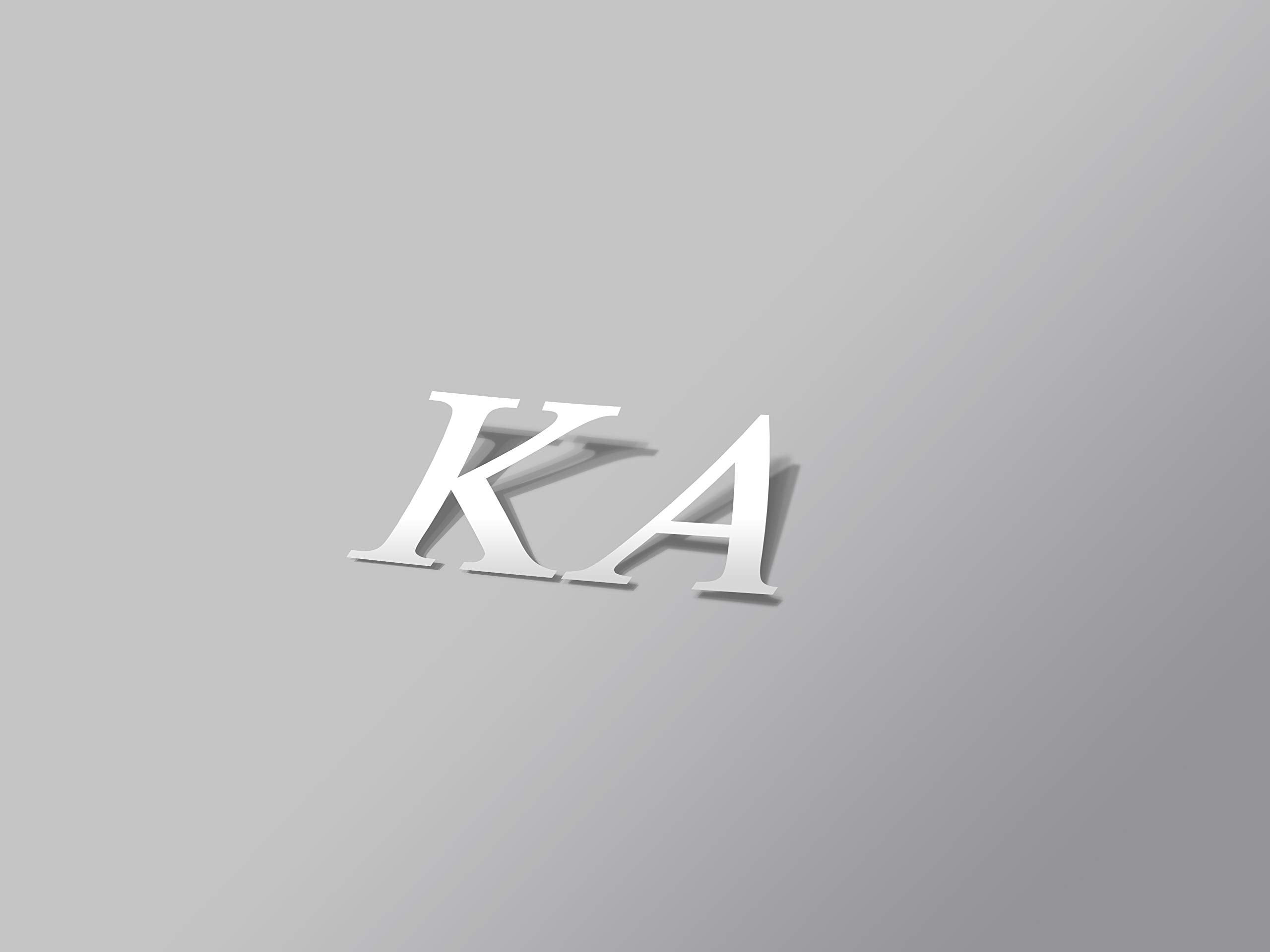 "Kappa Alpha Sticker Greek Sorority Decal for Car, Laptop, Windows, Officially Licensed Product, Monogram Design 2.5"" Tall - White"