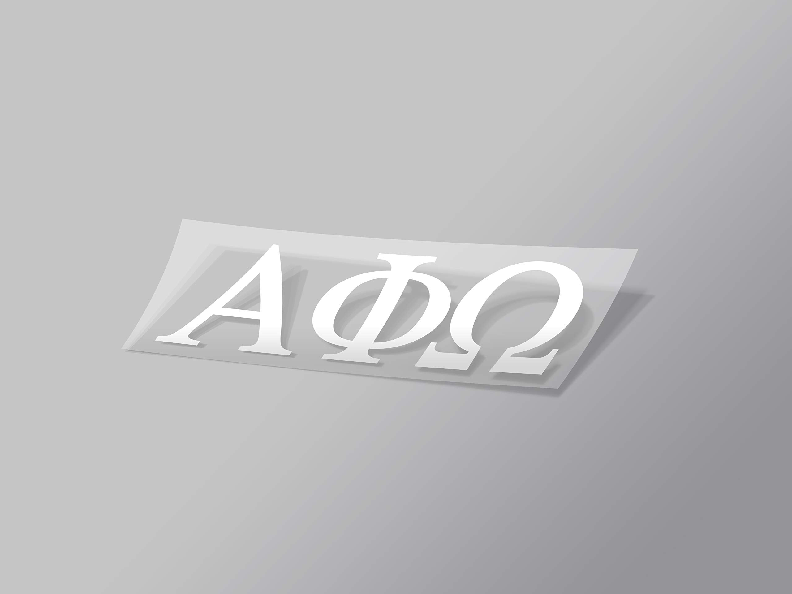 "Alpha Phi Sticker Greek Sorority Decal for Car, Laptop, Windows, Officially Licensed Product, Monogram Design 2.5"" Tall - White"