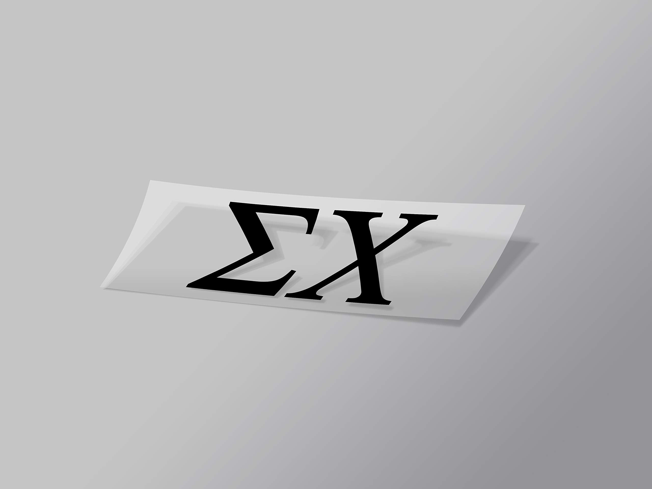 "Sigma Chi Sticker Greek Sorority Decal for Car, Laptop, Windows, Officially Licensed Product, Monogram Design 2.5"" Tall - Black"