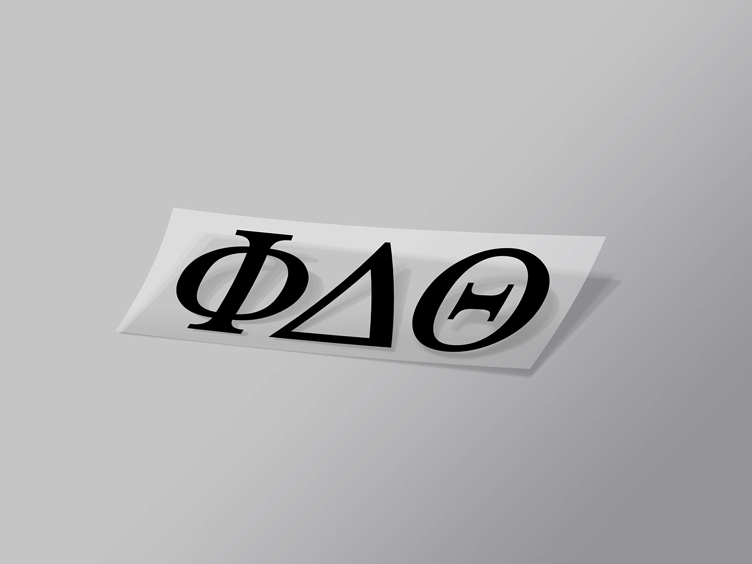 "Phi Delta Theta Sticker Greek Sorority Decal for Car, Laptop, Windows, Officially Licensed Product, Monogram Design 2.5"" Tall - Black"