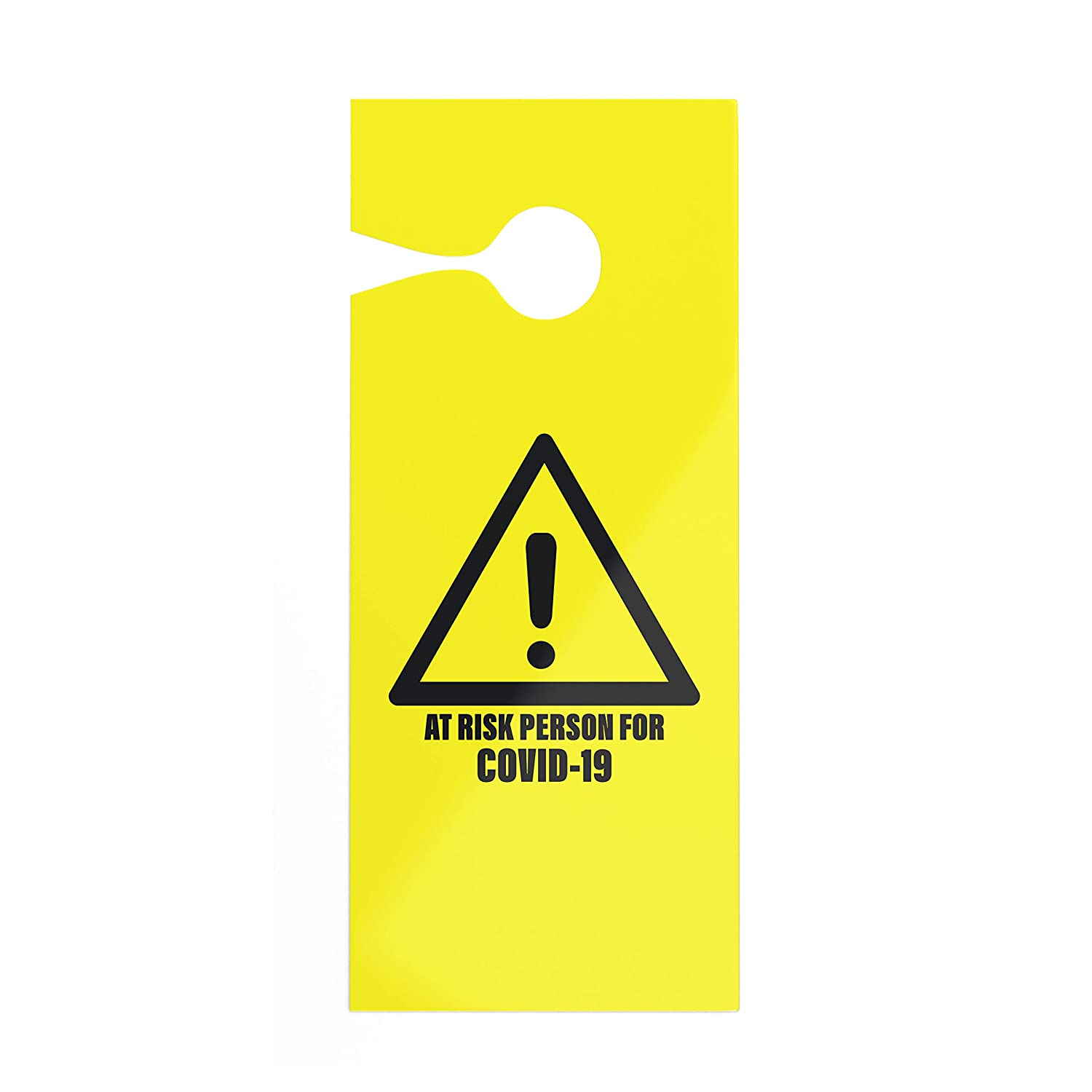 Pro-Graphx Door Hanger - at Risk Person for Coronavirus COVID-19 Quarantine Self Isolation Do Not Disturb Sign for Meeting in Session, Office, Home, Clinic, Therapists, Hotel, Health Care (1-Pack)