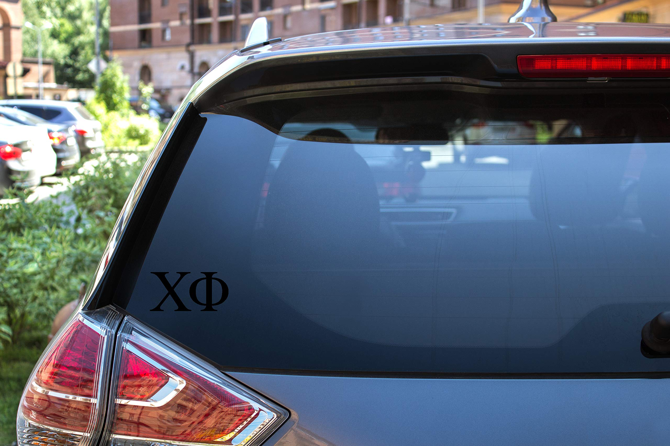 "Chi Phi Sticker Greek Sorority Decal for Car, Laptop, Windows, Officially Licensed Product, Monogram Design 2.5"" Tall - Black"