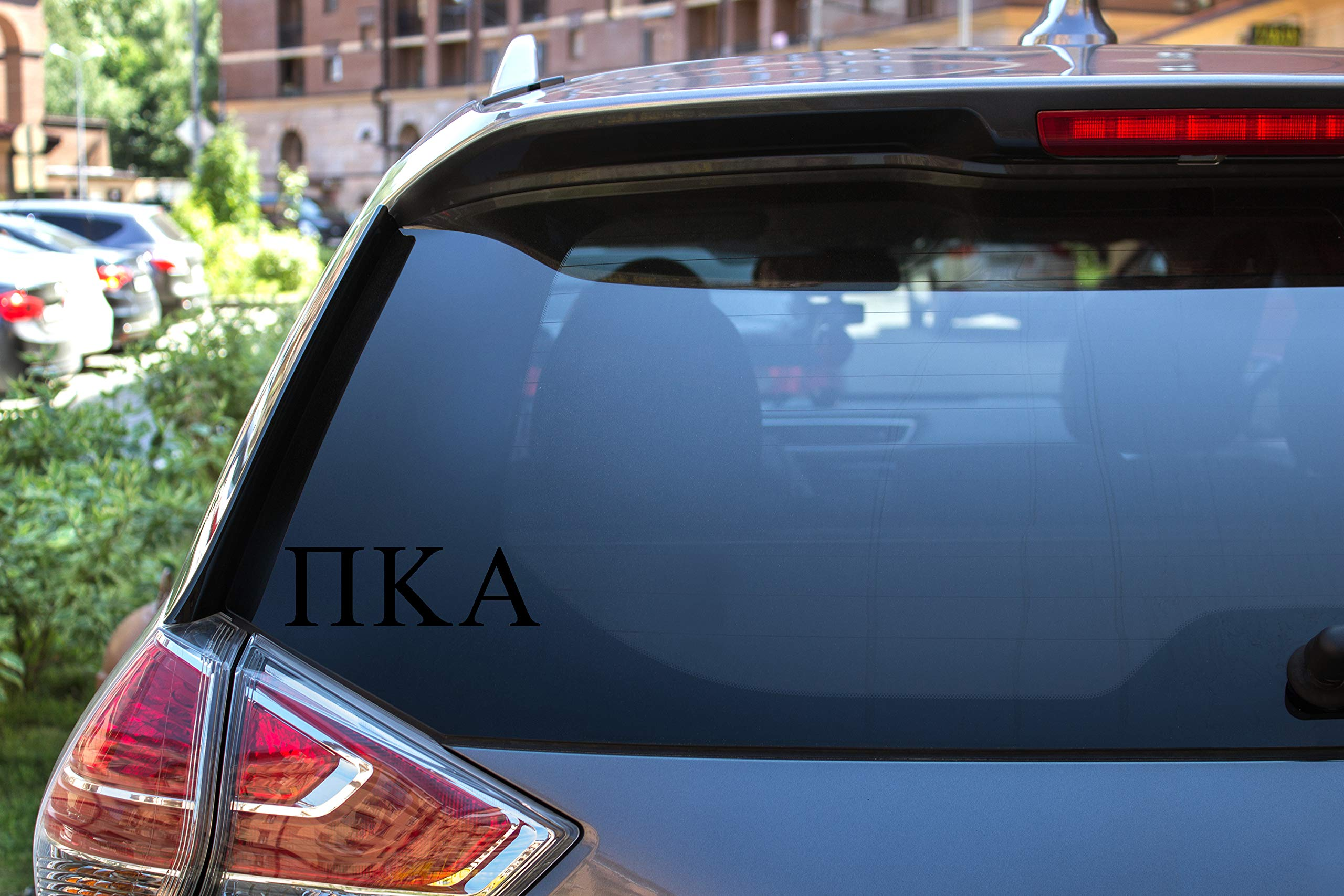 "Pi Kappa Alpha Sticker Greek Sorority Decal for Car, Laptop, Windows, Officially Licensed Product, Monogram Design 2.5"" Tall - Black"
