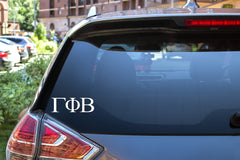 "Gamma Phi Beta Sticker Greek Sorority Decal for Car, Laptop, Windows, Officially Licensed Product, Monogram Design 2.5"" Tall - White"
