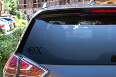"Theta Chi Sticker Greek Sorority Decal for Car, Laptop, Windows, Officially Licensed Product, Monogram Design 2.5"" Tall - Black"