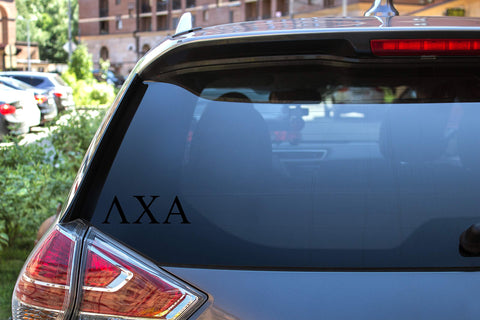 "Lambda Chi Alpha Sticker Greek Sorority Decal for Car, Laptop, Windows, Officially Licensed Product, Monogram Design 2.5"" Tall - Black"