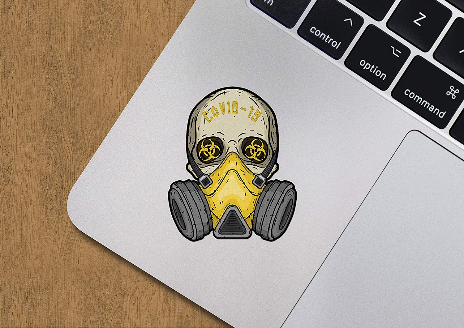 Pro-Graphx Coronavirus COVID-19 Vinyl Stickers for Laptop Car Truck Window Bumper Decor Notebook - Quarantine Self Isolation Logo Vinyl Decals Bumper Graphic Cartoon (1-Pack)