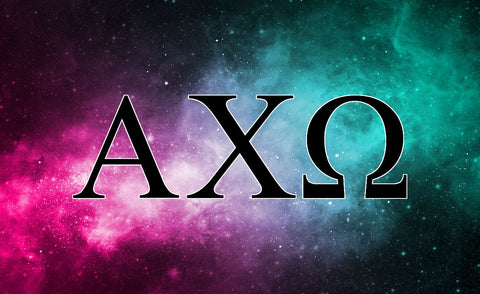 Alpha Chi Omega Galaxy 3' x 5' Flag