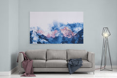 "Abstract Mountains - 24"" x 36"" Stretched Canvas"