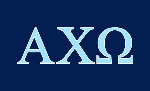 Alpha Chi Omega Greek Letters 3' x 5' Flag