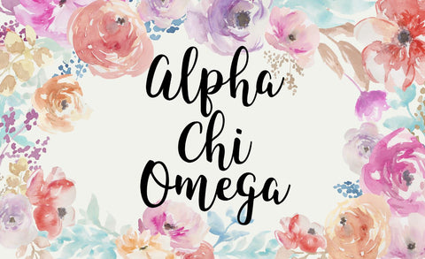 Alpha Chi Omega New Floral 3' x 5' Flag