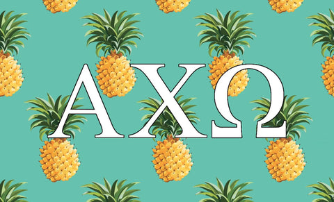 Alpha Chi Omega Pineapple 3' x 5' Flag