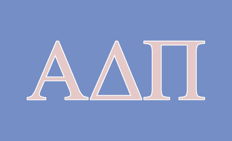 Alpha Delta Pi Greek Letters 3' x 5' Flag