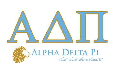 Alpha Delta Pi Lion 3' x 5' Flag
