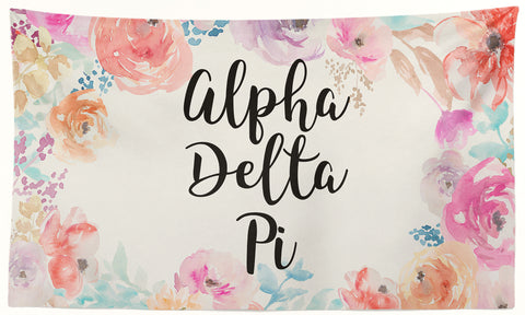Alpha Delta Pi - New Floral - 3' x 5' Flag