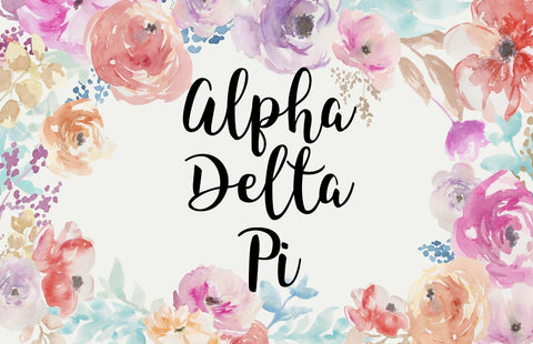 Alpha Delta Pi New Floral 3' x 5' Flag