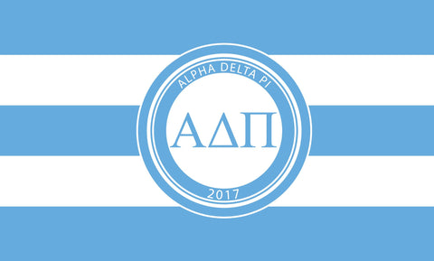 Alpha Delta Pi Stripes 3' x 5' Flag