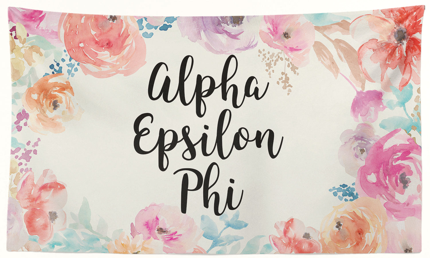 Alpha Epsilon Phi - New Floral - 3' x 5' Flag