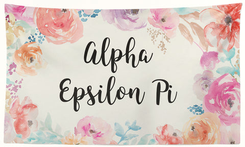 Alpha Epsilon Pi - New Floral - 3' x 5' Flag