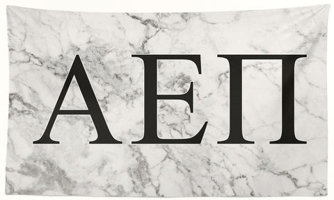 Alpha Epsilon Pi - White Marble - 3' x 5' Flag