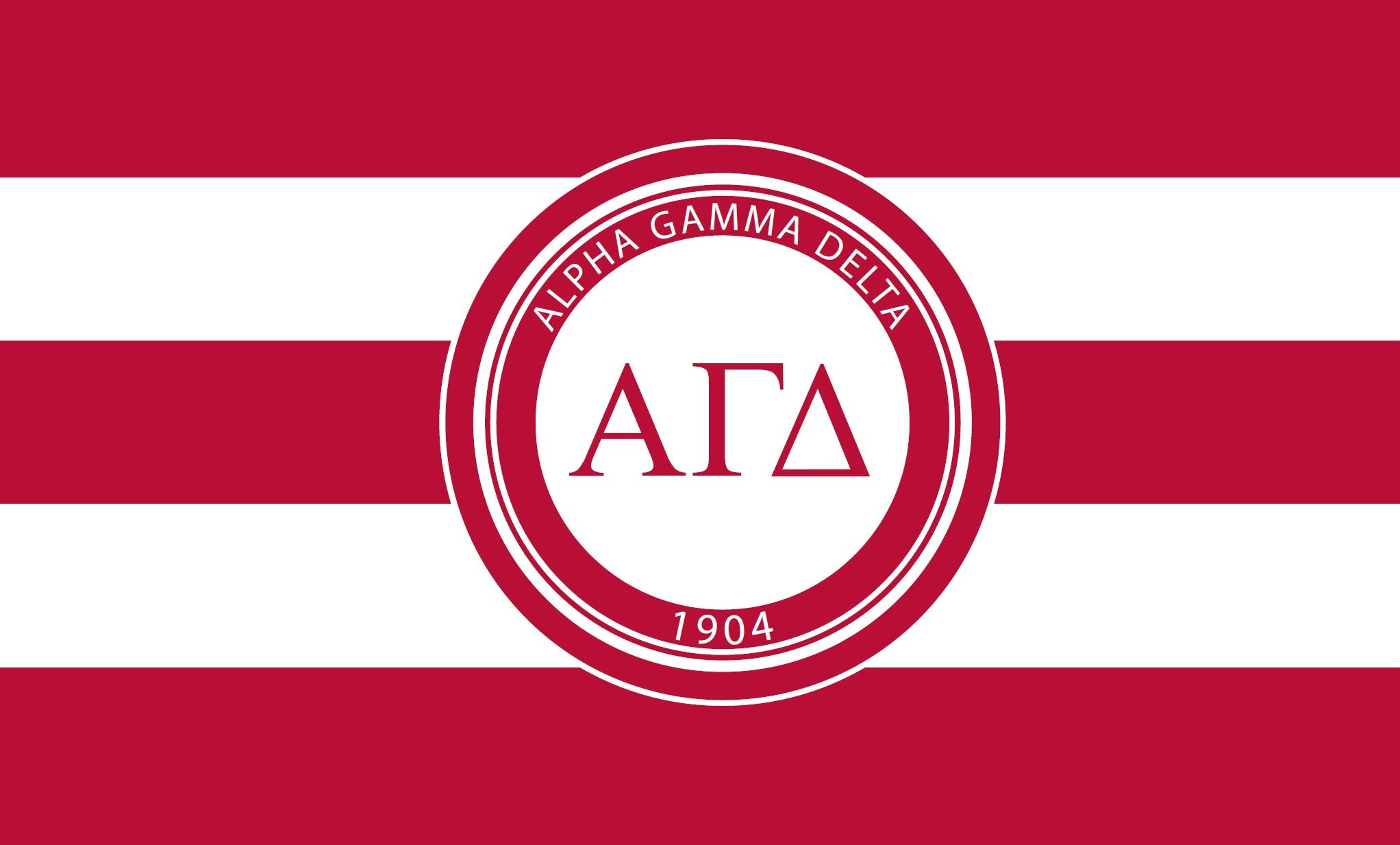Alpha Gamma Delta Stripes 3' x 5' Flag