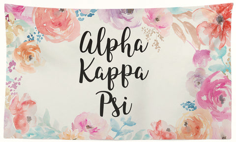 Alpha Kappa Psi - New Floral - 3' x 5' Flag