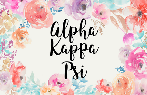 Alpha Kappa Psi New Floral 3' x 5' Flag